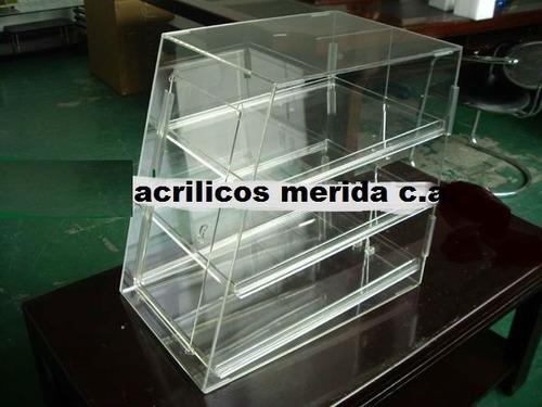 cajas mostradores para donnas cupcakes