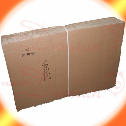 cajas mudanza reforzadas carton corrugado 60x40x40 pack 10u