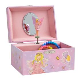 ee4c54c9ddbc Caja Musical Para Niñas Color Rosa Regalo Joyero Hada