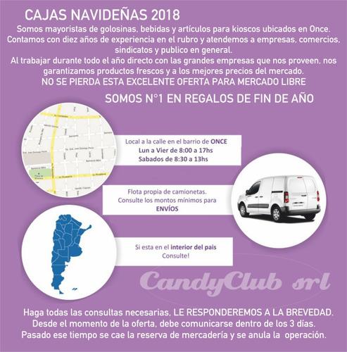 cajas navideñas 2018/2019 local en once y entregas. n°1