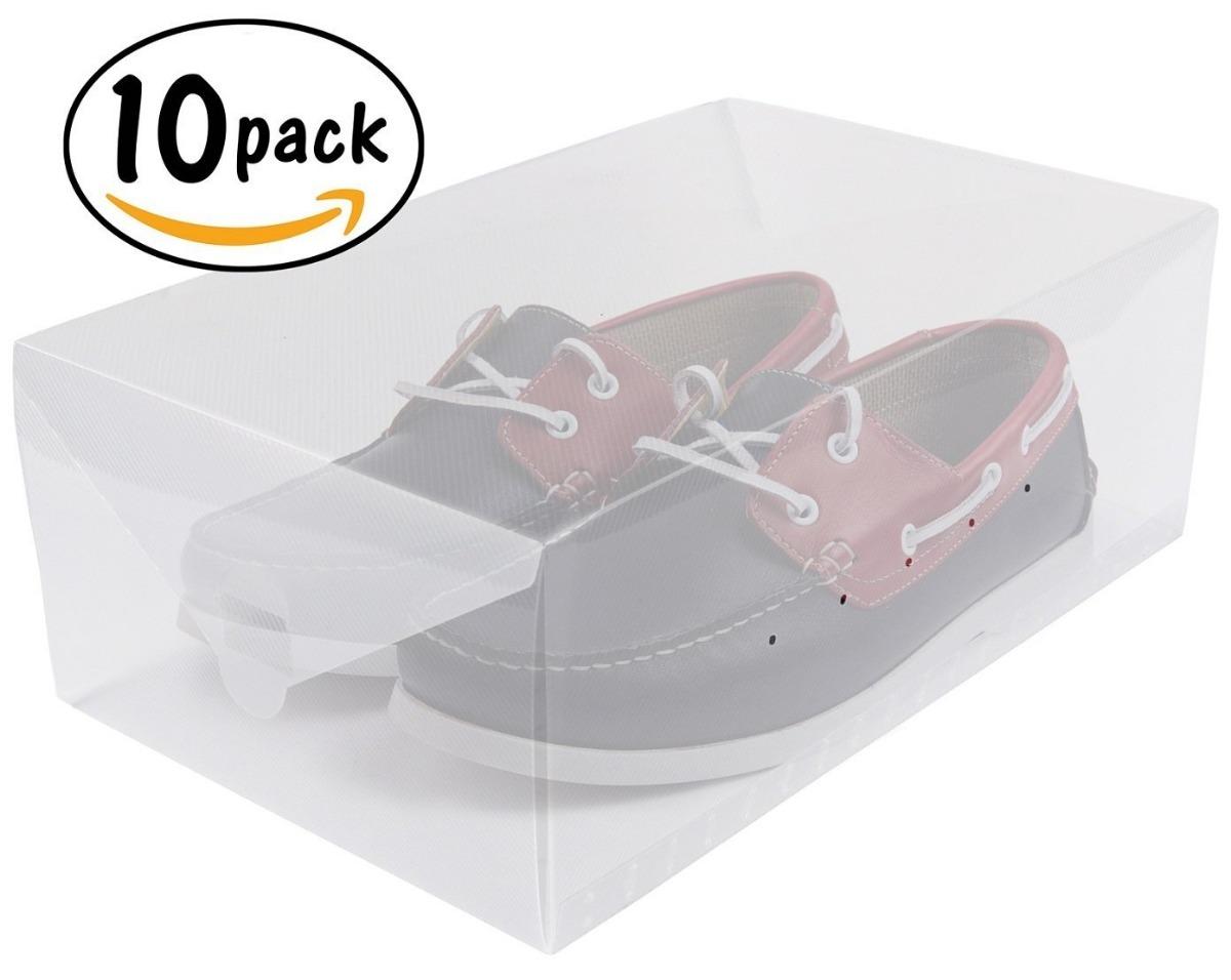 Cajas Organizadoras Zapatos Transparente Greenco 10 Piezas  ~ Cajas Transparentes Para Zapatos