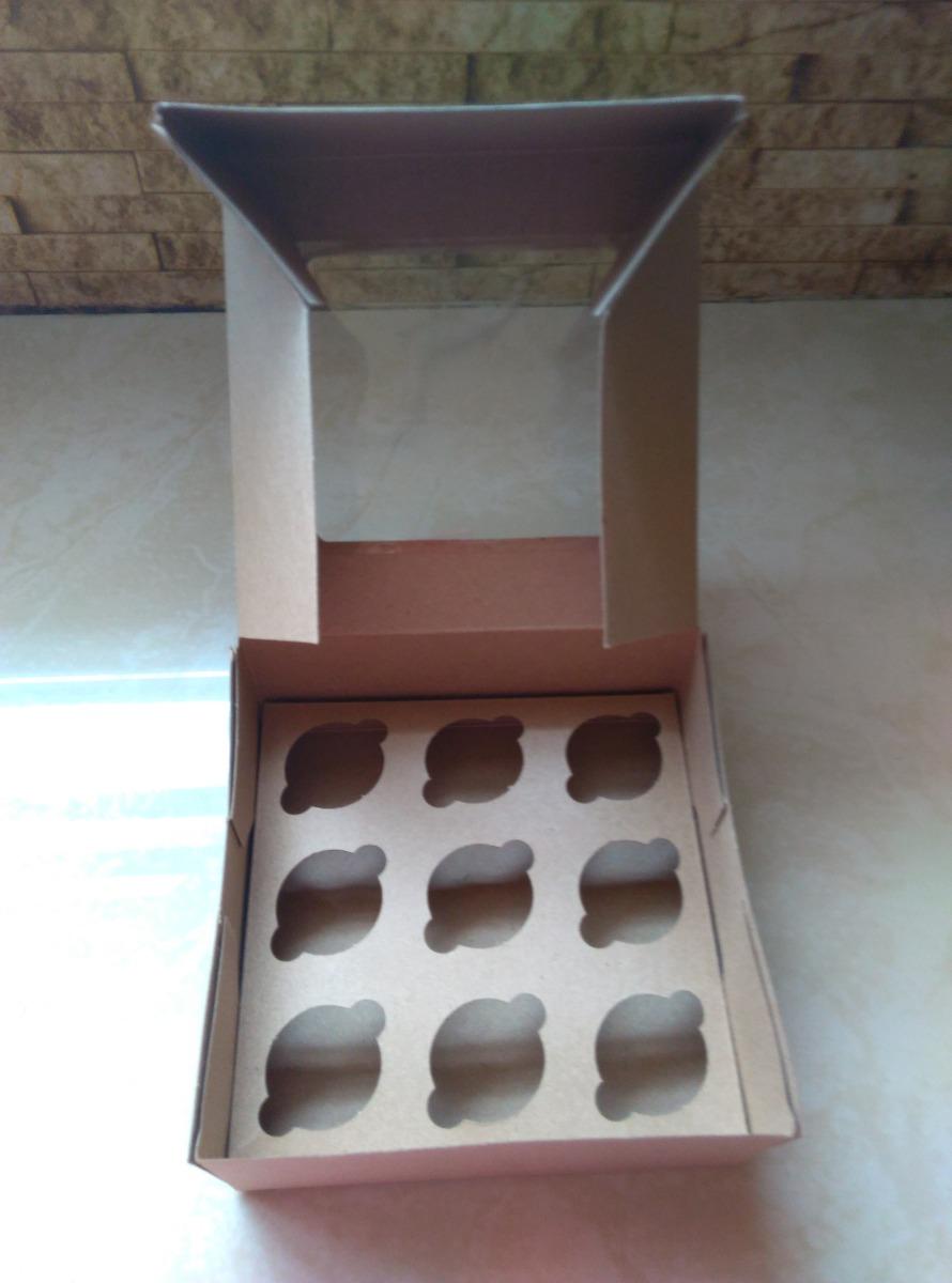 Cajas para 4 cupcakes y 9 minicupcakes precio por docena for Cajas de plastico precio