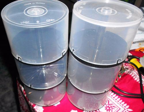 cajas para almacenar dvds o cds hasta 50 unidades pak x10 un