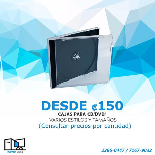cajas para cd y dvd.