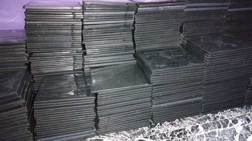 cajas para cd y dvd slim x 100 unidades