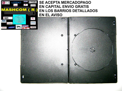 cajas para dvd's de 7 mm x 50 unidades(capital envio gratis)