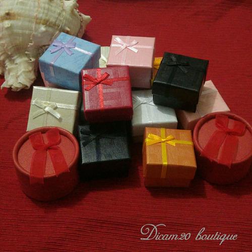 cajas para joyas 4x4 cm por docena