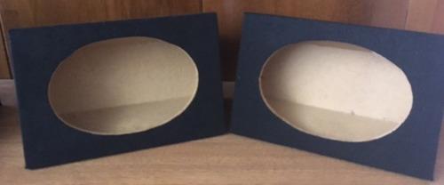cajas para parlantes grandes ovaladas (par)