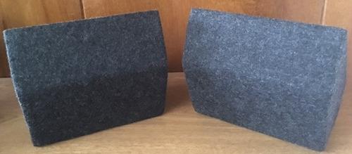 cajas para parlantes pequeñas redondas (par)