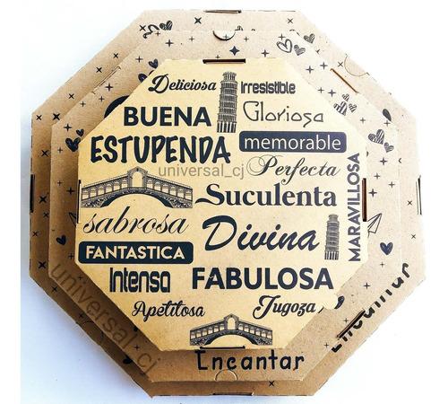 cajas para pizza mediana 33x33 paquete de 50 unidades