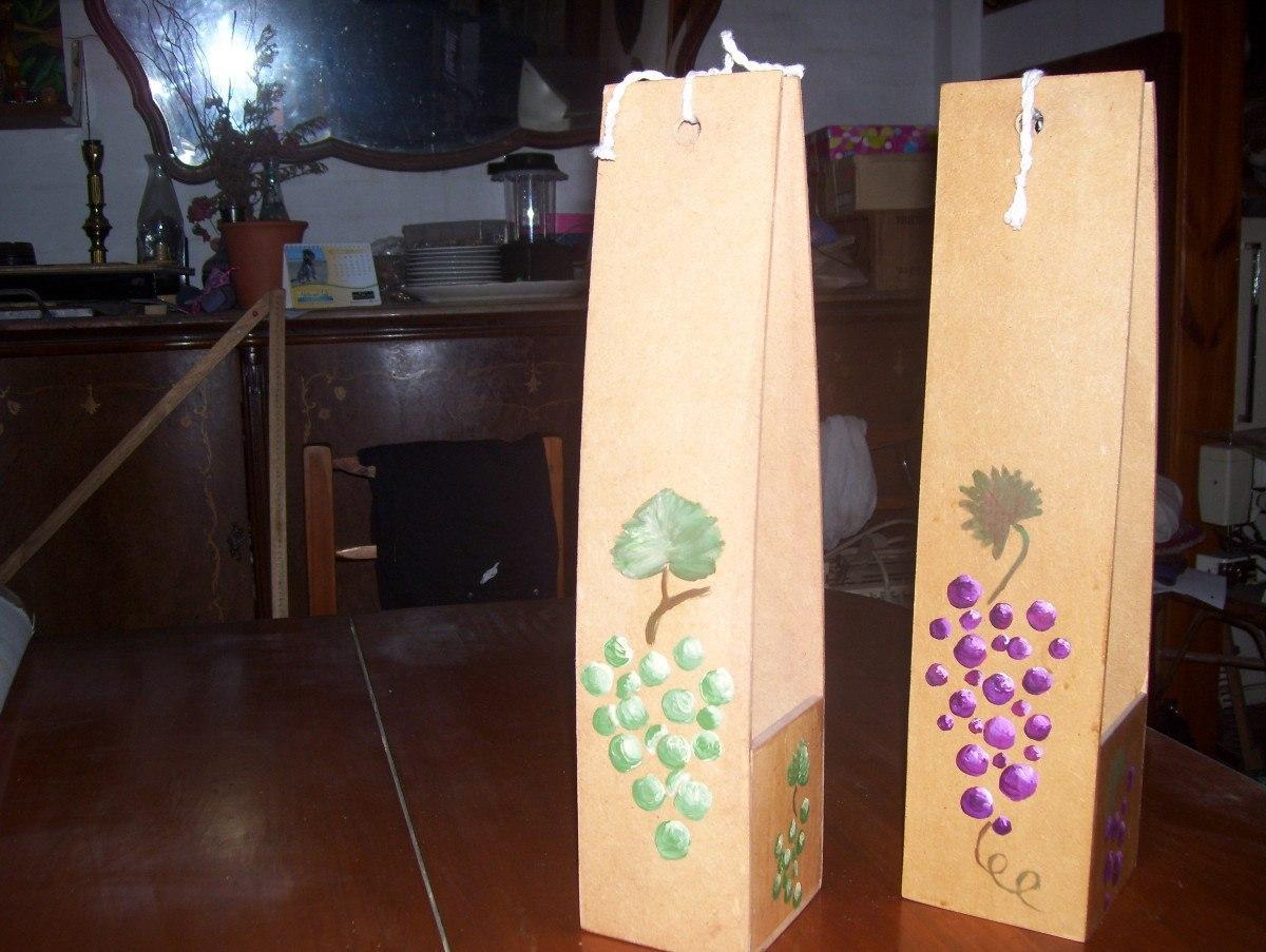 lote de o cajas para vino decoradas realizadas en fibrofacil ultimas del lote liquido para regalos del da del padre
