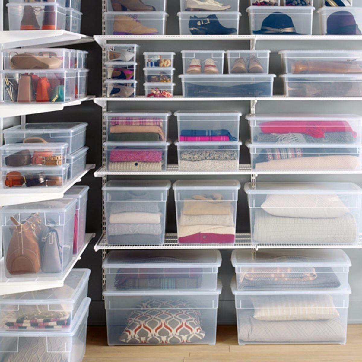 Cajas Pl Sticas Transparentes Apilables Zapatos X5 6l Rey 440  ~ Cajas Transparentes Para Zapatos