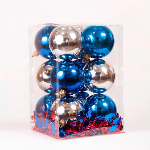 cajas set de bolas / adornos navideños 12 piezas numero 7!!!