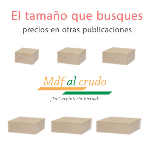 cajas tapa cubre bordes 10x10x4 cm. de alto en mdf al crudo