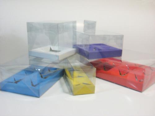 cajas transparente armables de mica pvc acetato