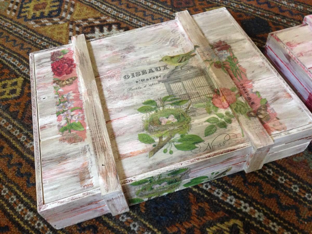 Cajas vintage decorativas de madera en mercado - Cajas de madera decorativas ...