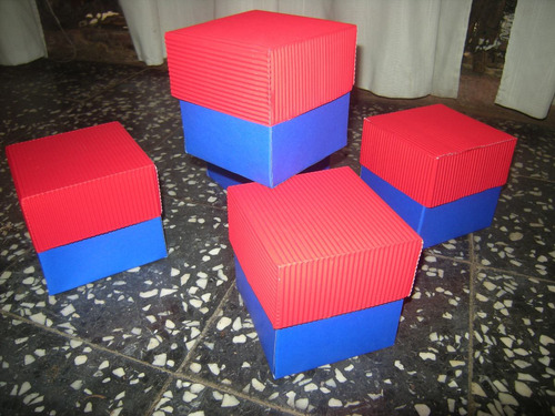 cajas y cofres en cartón corrugado (sorpresitas, regalos)