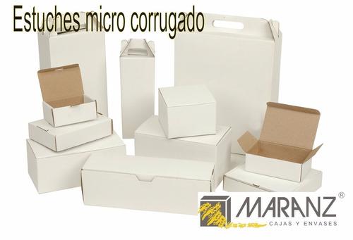 cajas y estuches de micro corrugado 10x10x10