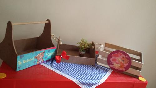 cajas y huacales para desayunos sororesas