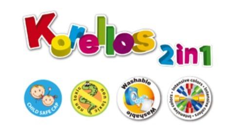 cajax10 marcadores kores plumones 2en1 lista utiles escolar