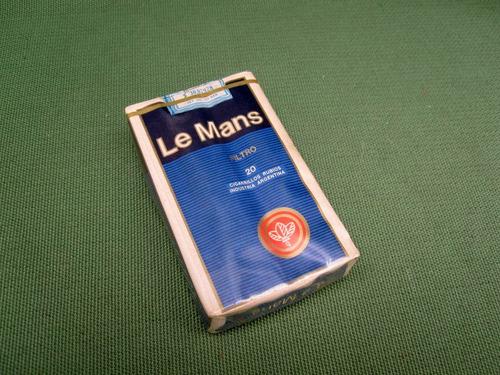 cajetilla cigarrillos le mans sellados antiguos