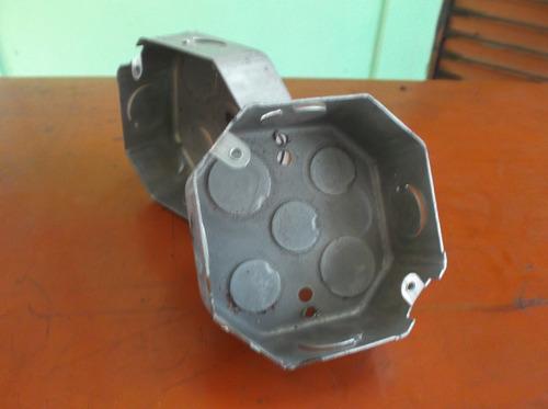 cajetin electrico metalico octagonal