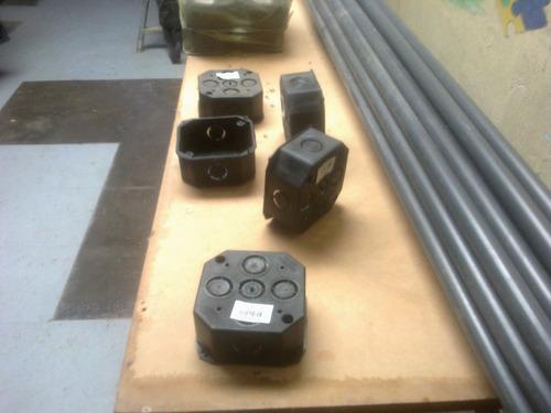 cajetin rectangular 4 x 2 salida 1/2 y 3/4 plastico elec