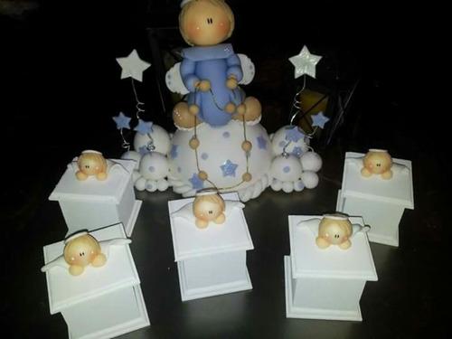 cajita bautismo comunion nacimiento varon $25