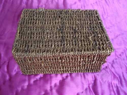 cajita cofre alhajero artesanal importado rafia envio gratis