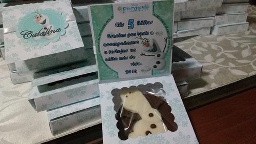 cajita con chocolates cumpleaños baby shower bautizo