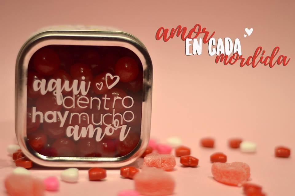 Cajita Con Dulces Y Frases De San Valentin