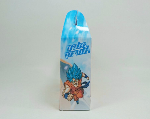 cajita - dragon ball super - goku blue -  pack x40