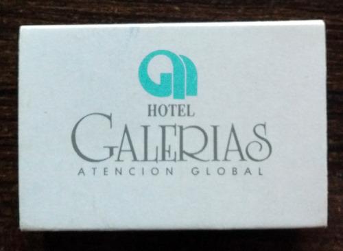 cajita fósforos madera hotel galerías santiago - excelente!