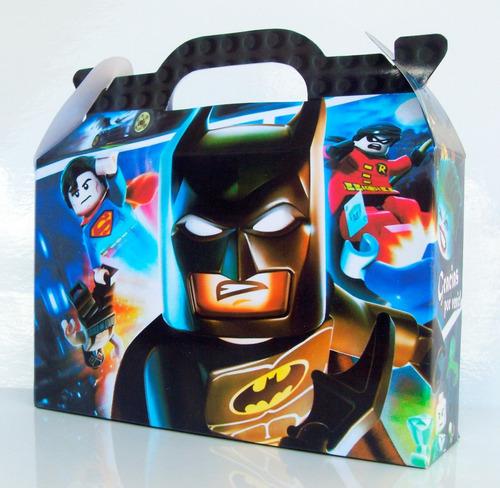 cajita golosinera lego batman pack x50 valijitas infantil