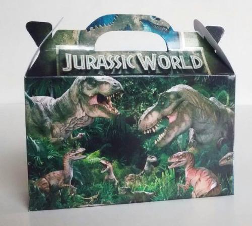 cajita jurassic world dinosaurios pack x40 valijitas