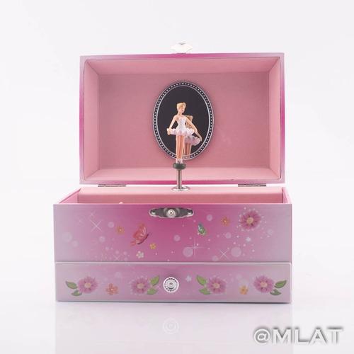 cajita musical con  cajón infantil alhajero  bailarina barby