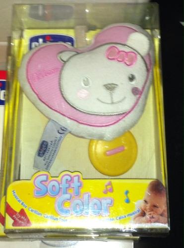 cajita músical cuerda peluche conejo oso bebe carriola  e4f