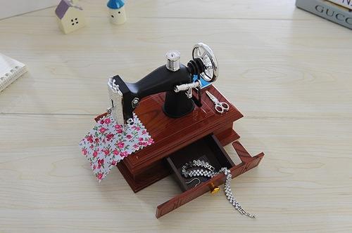 cajita musical maquina de coser !! costurera regalo