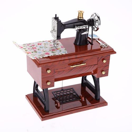 cajita musical maquina de coser grande !! costurera regalo