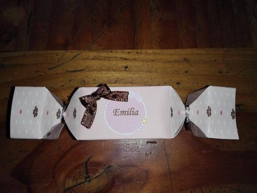 cajita souvenir forma de caramelo