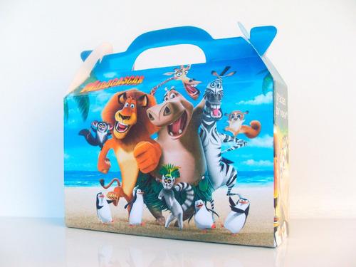 cajita souvenirs madagascar (pack x40) valijitas infantil