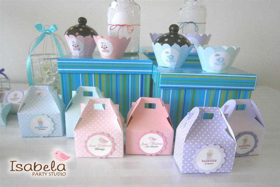 Cajitas cajas mesa de dulces baby shower bautizo palomitas for Como decorar mesa de postres para baby shower