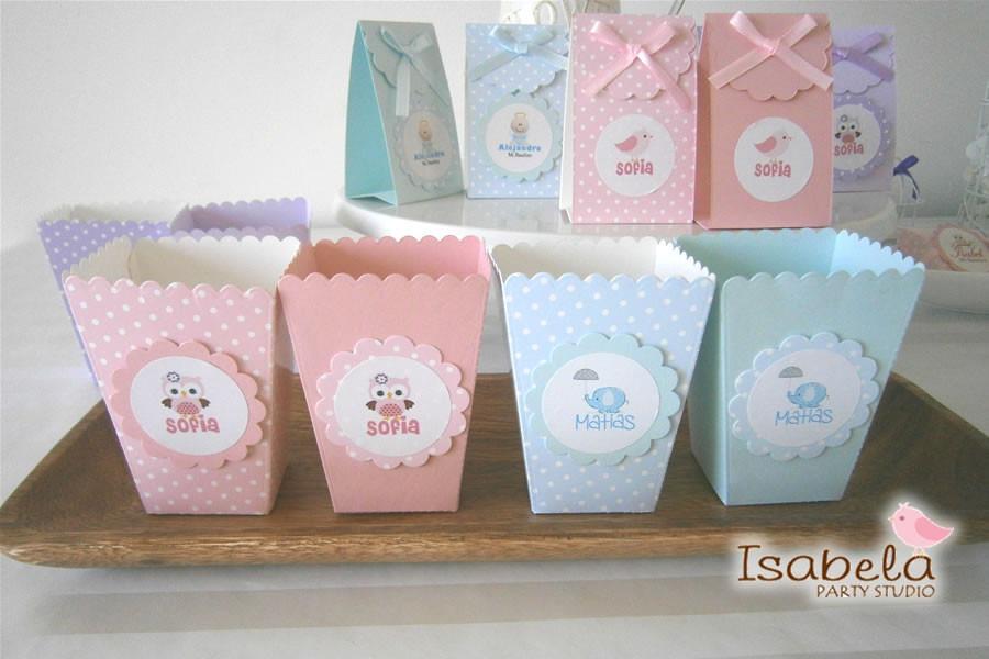 Cajitas cajas mesa de dulces baby shower bautizo palomitas - Hacer mesa dulce bautizo ...