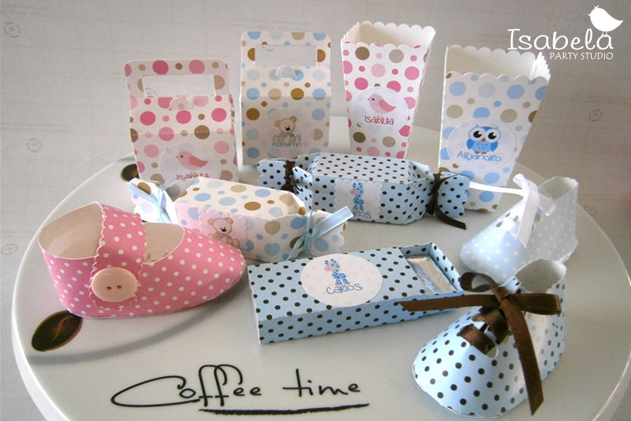 Cajitas cajas mesa de dulces baby shower bautizo zapatitos for Mesa dulce para baby shower