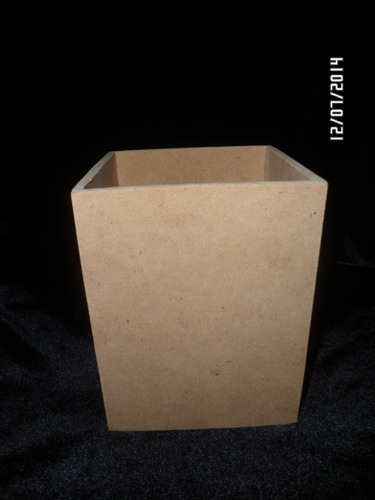cajitas de mdf en crudo para cotillón 15 x 15 x 15 cm
