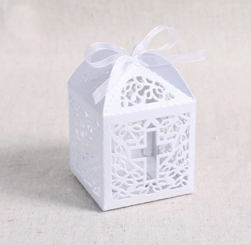 cajitas dulceras con cruz, cajas para dulces, boda, bautizo