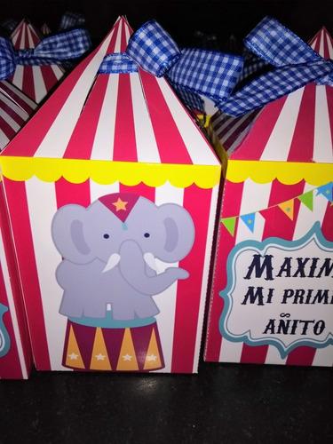 cajitas golosineras circo x10