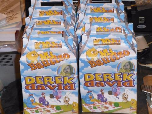 cajitas loncheras dulceros personalizadas 15 pzs x  $ 130.00