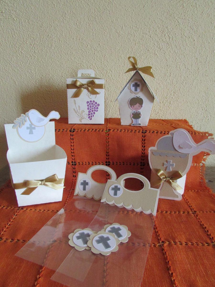 Cajitas para mesas de dulces primera comunion 70 piezas - Como hacer tarjetas para comunion ...