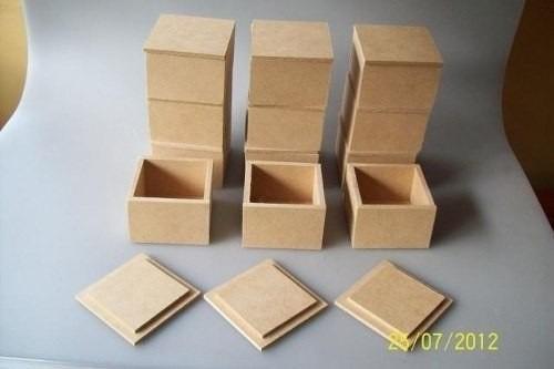 cajitas para recuerditos tapa lisa 5x5x4 mdf cotillones